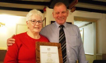 SSAFA Life Membership for Liz
