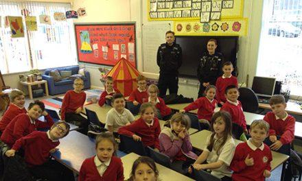 PCSO Visits School