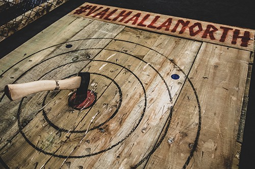 Valhalla North, Axe Throwing To Open