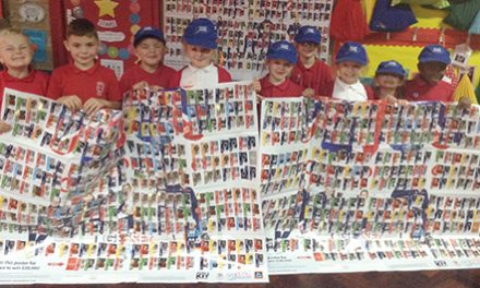 Sticker Crazy Students at Horndale