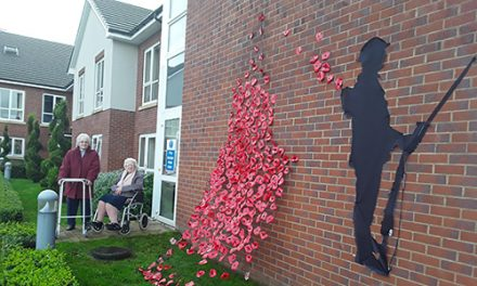 St. Clare's Care Home Remembers War Heroes with Armistice Display