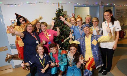 Panto Stars Bring Christmas Magic to Hospital Ward