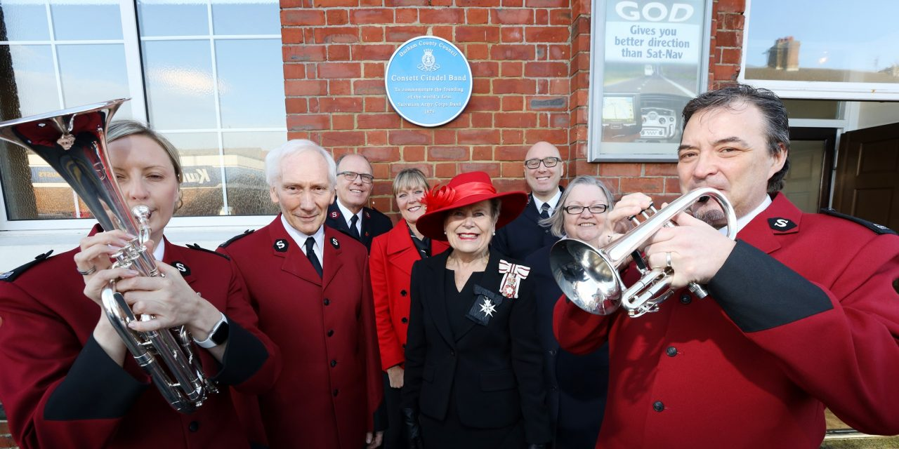 Blue Plaque Honours Consett Salvation Army band