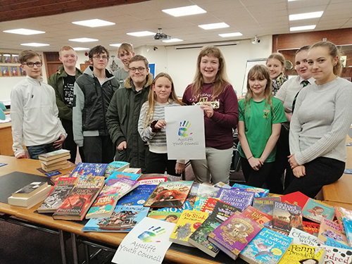 Aycliffe Youth Council Donate Books