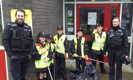 Mini Police on Litter Patrol