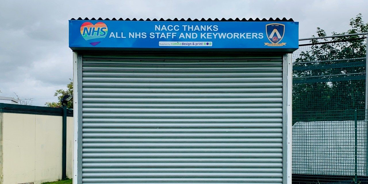 Cricket Club Tribute to NHS and Key Workers