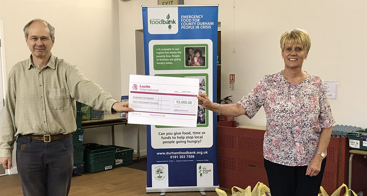 A Helping Hand for Durham Foodbank from Lucite International