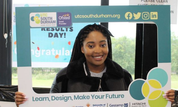 UTC South Durham Students Celebrate A-level Results
