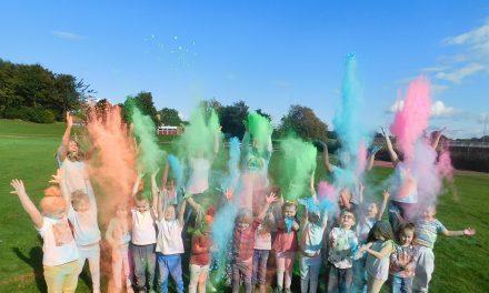 Horndale School Colour Run for 'Race for Life'