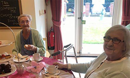 Residents Enjoy a 5*Afternoon Tea