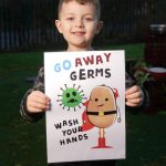 Schoolchildren get creative to design handwashing posters as part of battle to beat coronavirus pandemic