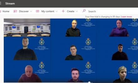 New Recruits Sworn in Online