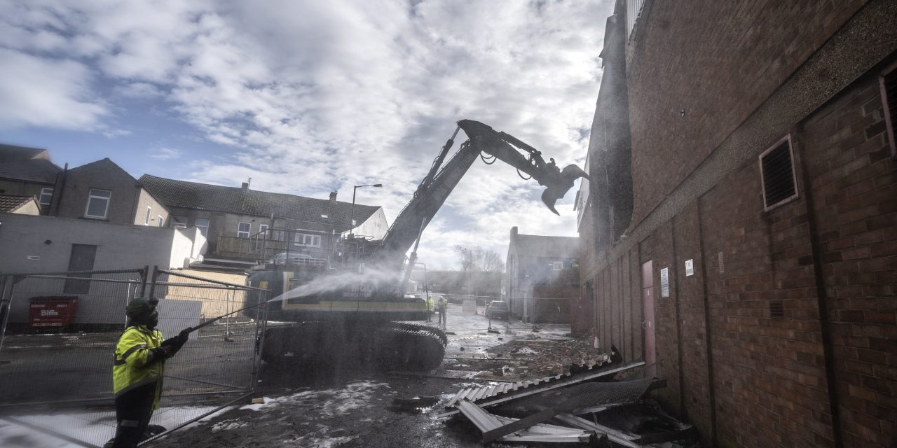 Demolition marks major milestone in shopping centre transformation