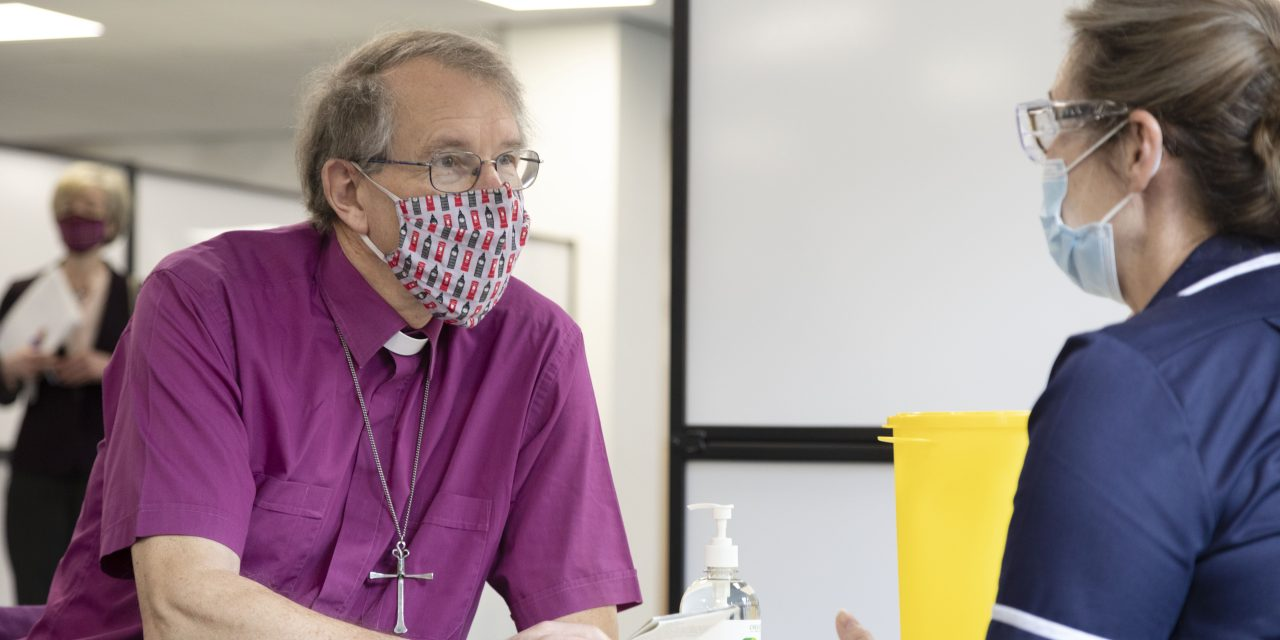Bishop of Durham Vaccinated at Arnison Centre in Durham