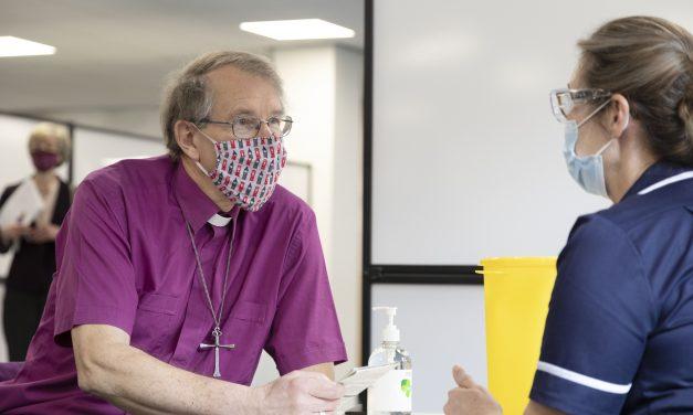 Bishop of Durham Vaccinated at Arnison Centre in Durham