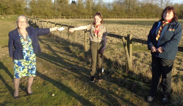 Acle Scouts Receive Rotary Donation